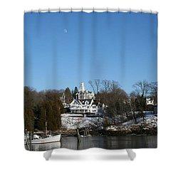 Quiet Harbor Shower Curtain