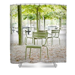 Quiet Moment At Jardin Luxembourg Shower Curtain