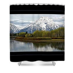 Shower Curtain featuring the photograph Quiet Morning At Oxbow Bend by Jaki Miller