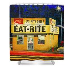 Quiet Night At Eat Rite Diner Shower Curtain