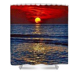 Quiet On The Ocean Shower Curtain