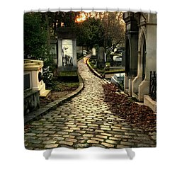 Pere Lachais Cemetery Road Shower Curtain