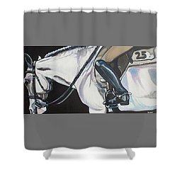 Quiet Ride Shower Curtain by Stephanie Come-Ryker