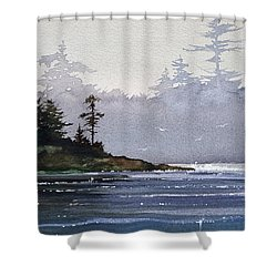Quiet Shore Shower Curtain by James Williamson