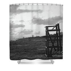 Quiet Sunrise Bw Shower Curtain
