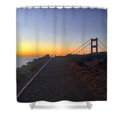 Sunrise Headlands Walk Shower Curtain