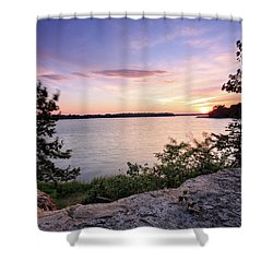Shower Curtain featuring the photograph Quiet Sunset by Jennifer Casey