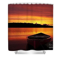 Quiet Sunset Shower Curtain by Rod Jellison