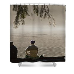 Shower Curtain featuring the photograph Quiet Time by Inge Riis McDonald