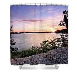 Quiet Waters Crop Shower Curtain