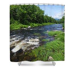 Quill Pond Brook Near Rangeley Maine  -70748 Shower Curtain