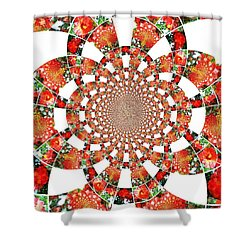 Quilted Flower Shower Curtain