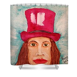 Quinacridone Hat Shower Curtain