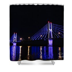 Quincy Bay View Light Reflection Shower Curtain by Justin Moore