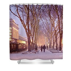 Quincy Market Stroll Shower Curtain