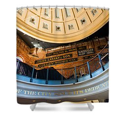 Quincy Market Vintage Signs Shower Curtain