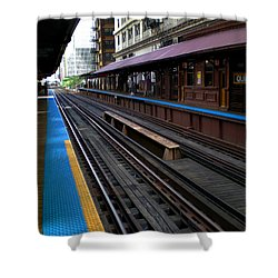 Shower Curtain featuring the photograph Quincy Train Station  by Joanne Coyle