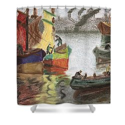 La Boca Caminito Shower Curtain