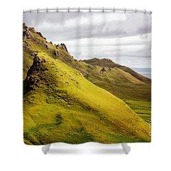 Quiraing Mountains Shower Curtain