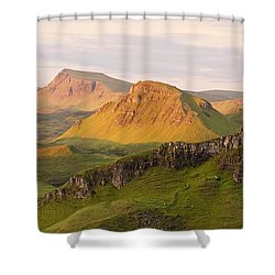 Quiraing Panorama Shower Curtain