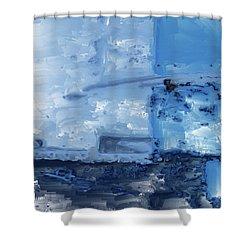 Quite Blue Shower Curtain