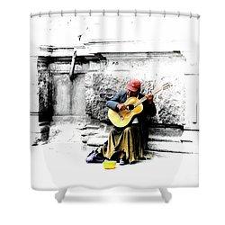 Quito Street Musician II Shower Curtain