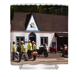 Quitting Time Shower Curtain by David Blank