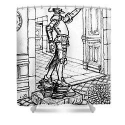 Quixote Museum Shower Curtain by Rich Travis