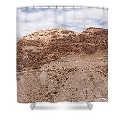 Shower Curtain featuring the photograph Qumran National Park by Yoel Koskas