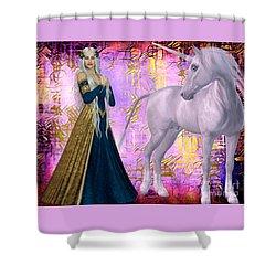 Quod Magicae Spectro Shower Curtain