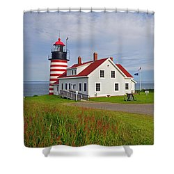 Quoddy Head Lighthouse Shower Curtain
