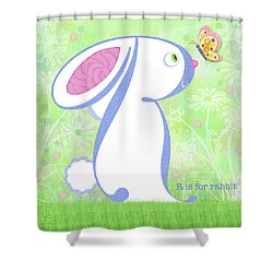 R Is For Rabbit Shower Curtain
