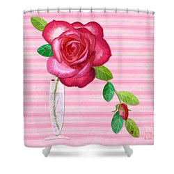 R Is For Rose Shower Curtain