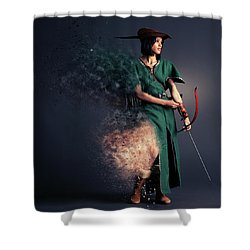 R O B Y N - H U D Shower Curtain