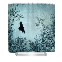 Spread Your Wings Shower Curtain by Priska Wettstein