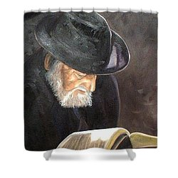 Rabbi Shower Curtain by Toni Berry