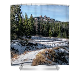 Shower Curtain featuring the photograph Rabbit Ears Pass by Jim Hill