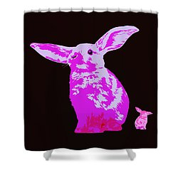 Shower Curtain featuring the photograph Rabbit by James Bethanis