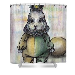 Rabbit Pierrot Shower Curtain