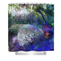 Rabbit Reflection Shower Curtain