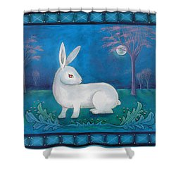 Rabbit Secrets Shower Curtain by Terry Webb Harshman