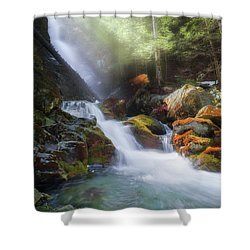 Shower Curtain featuring the photograph Race Brook Falls 2017 by Bill Wakeley