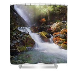 Shower Curtain featuring the photograph Race Brook Falls 2017 Square by Bill Wakeley