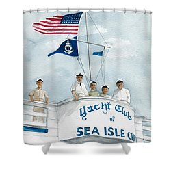 Race Committee  Shower Curtain