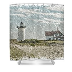 Shower Curtain featuring the photograph Race Point Lighthouse by Paul Miller