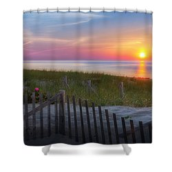 Race Point Sunset 2015 Shower Curtain by Bill Wakeley