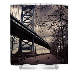 Race Street Pier Shower Curtain by Katie Cupcakes