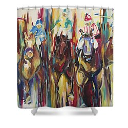 Race Track Shower Curtain