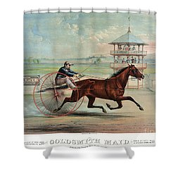 Racehorse: Goldsmith Maid Shower Curtain by Granger