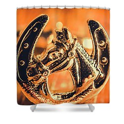 Racehorse Luck Shower Curtain
